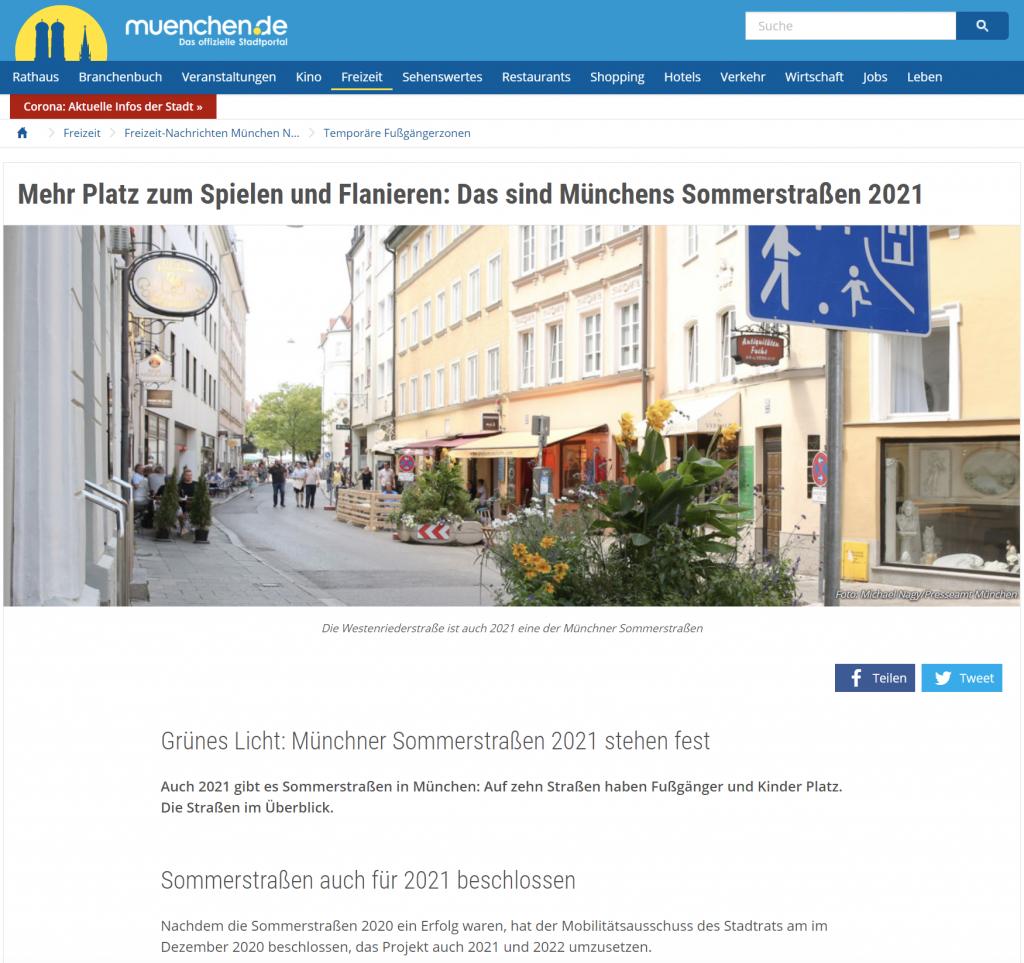 Screenshot Webseite www.muenchen.de/freizeit/aktuell/temporaere-fussgaengerzonen-weitere-sommerstrassen-kommenhttps://www.muenchen.de/freizeit/aktuell/temporaere-fussgaengerzonen-weitere-sommerstrassen-kommen.html