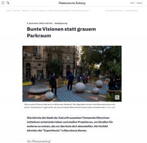 20201205 - sueddeutsche - FreiRAUM-Viertel - Bunte Visionen statt grauem Parkraum - Screenshot